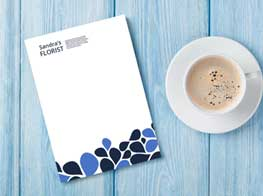 Letterhead stationary and coffee