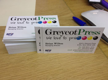 Greycot Press Business Cards